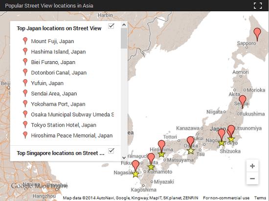 najpregledanije lokacije u Japanu na StreetView