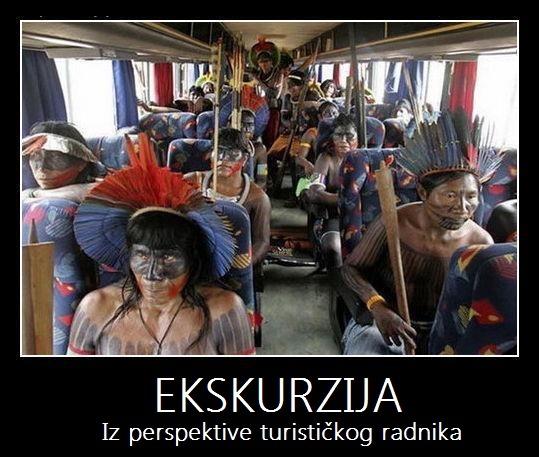 ekskurizija iz perspektive turističkog radnika