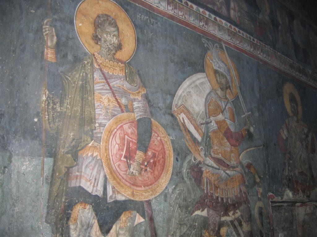 gračanica, freske