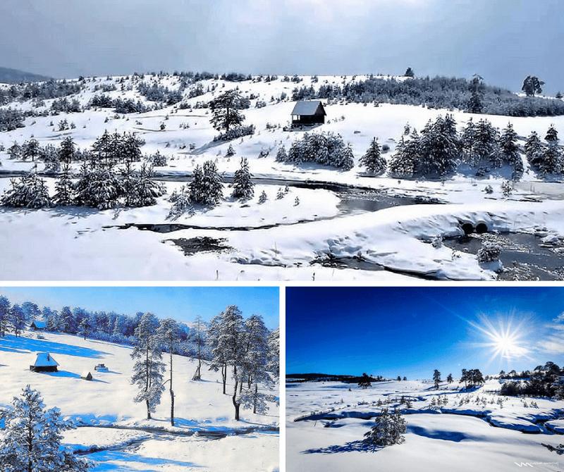 Vodice, zimski pejzaž