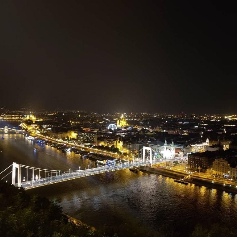 pogled sa citadele u Budimpešti noću