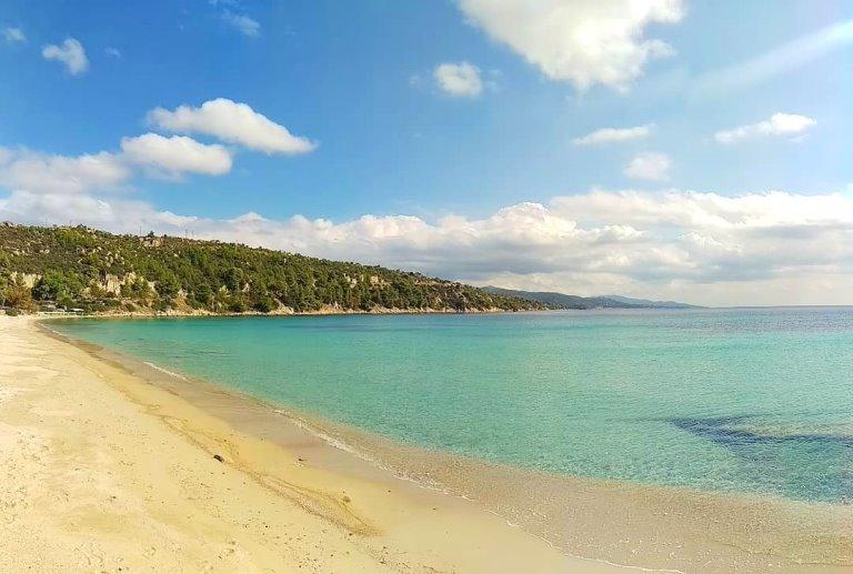plaža u Nikitiju sitonija